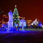 Ледяной город зимней Москвы
