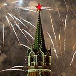 День Победы: салют над столицей России
